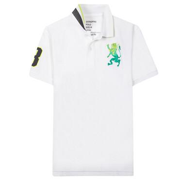 Men Cotton Lycra  3D Bold Lion Polo