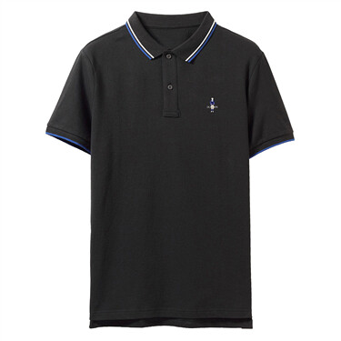 Stretchy Pique Contrast Polo Shirt
