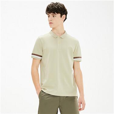 Outdoor contrast pique polo shirt