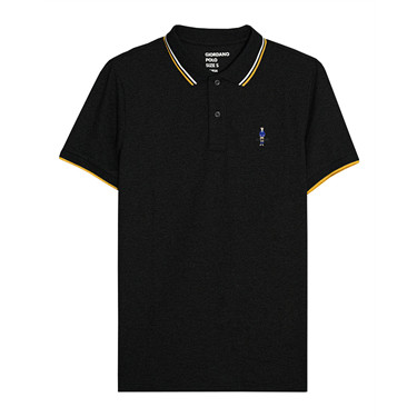 Pique embroidered slim  polo