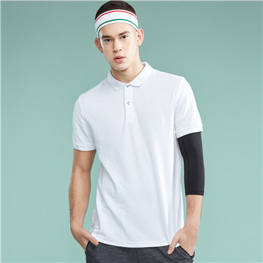 Solid short sleeve polo