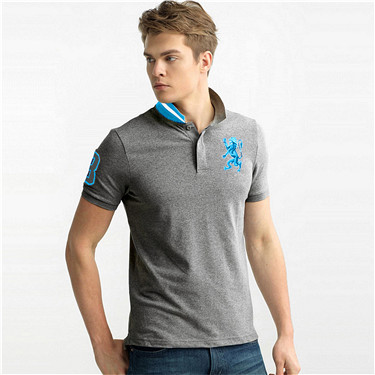 3D Lion pattern polo