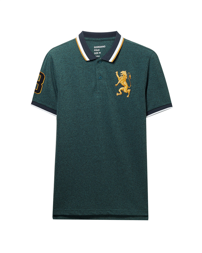 3d Lion Multi Color Embroidery Polo Giordano Online Store