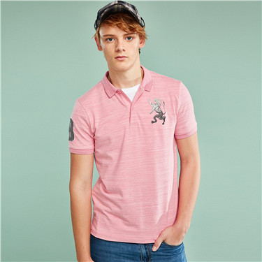 3D Lion Multi-color Embroidery Polo