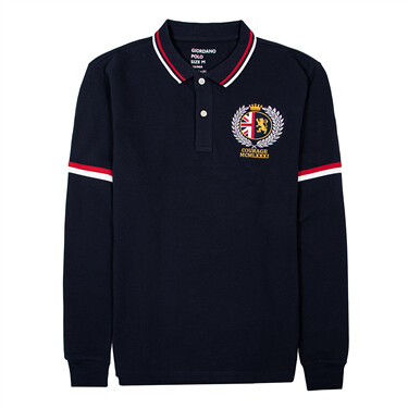 Men Long Sleeve Embroidery lion POLO