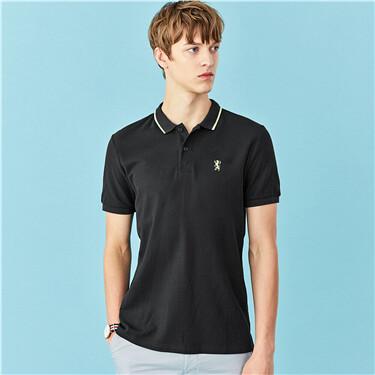 Embroidery short-sleeve polo shirt