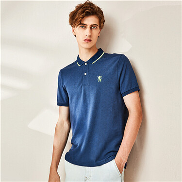 Embroidery short-sleeve polo shirt