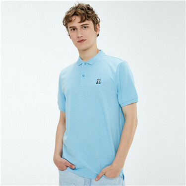 Monkey Embroidery Polo Shirt