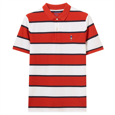 Classic Embroidery Stripe Polo