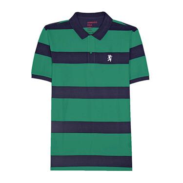 Classic Embroidery Stripe Polo