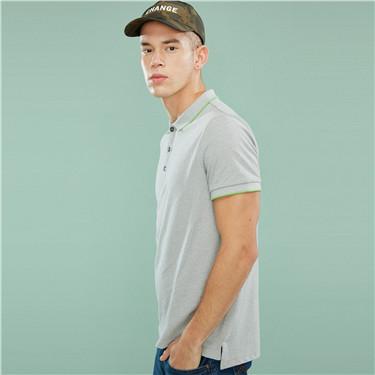 Pique short-sleeve polo slim shirt