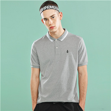 Pique Embroidered anchor slim polo