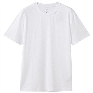 Plain crewneck short-sleeve te