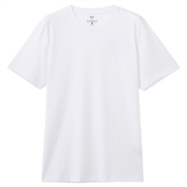 Plain crewneck short-sleeve tee
