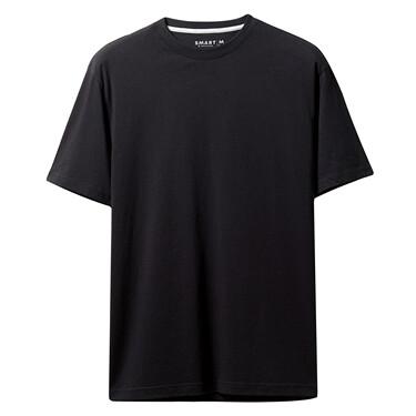 純色純棉圓領短袖T恤