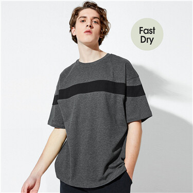 Loose Drop-Shoulder Quick-Drying Crew Neck Tee