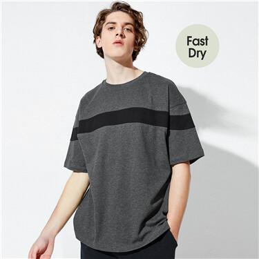Loose Drop-Shoulder Quick-Dryi