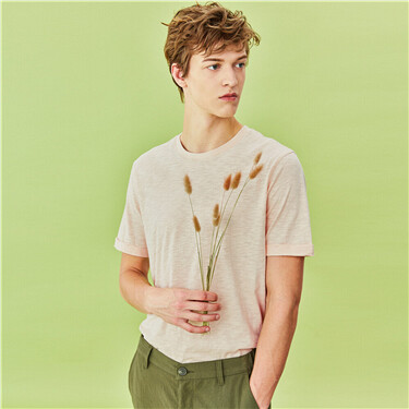Bamboo cotton crewneck short-sleeve tee