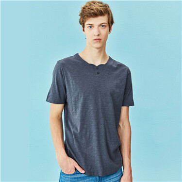 Bamboo cotton loose crewneck tee