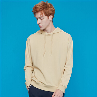 Plain long-sleeve hoodie