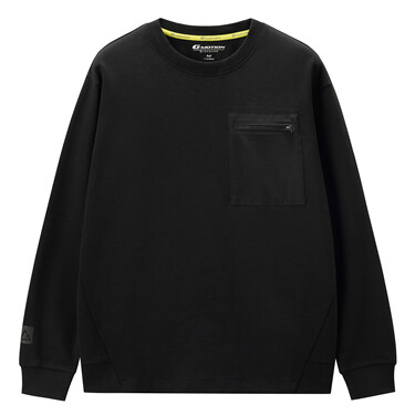 Interlock patch pocket sweatshirt