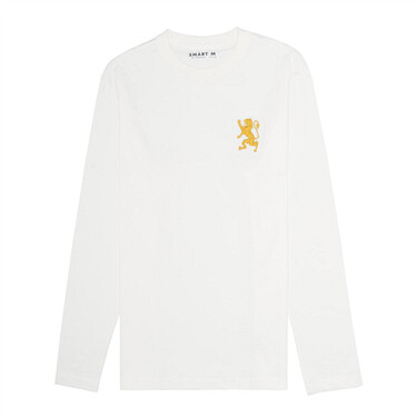Long Sleeve Tee with Lion Embroidery