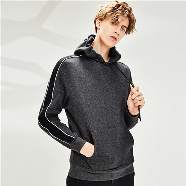 Contrast fleece-lined loose ho