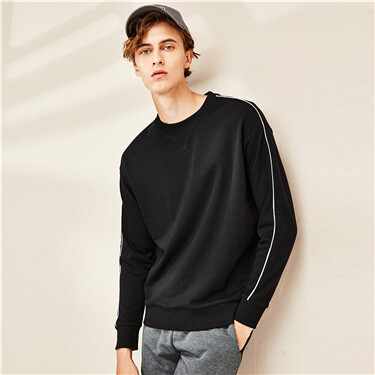 Drop-shoulder crewneck sweatshirt
