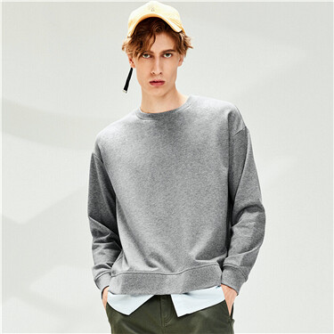 Fake 2-piece dropped-shoulder sweatshirt