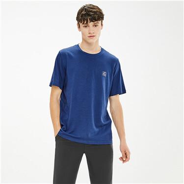 黑科技速干反光印花运动圆领短袖T恤
