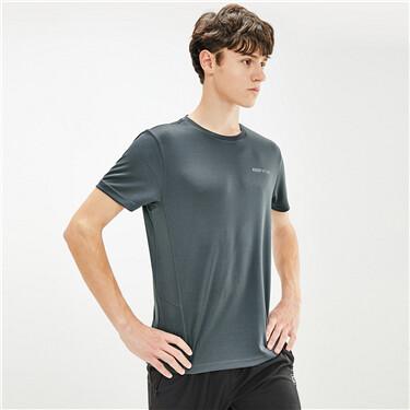 黑科技抗菌竹炭纤维圆领短袖T恤