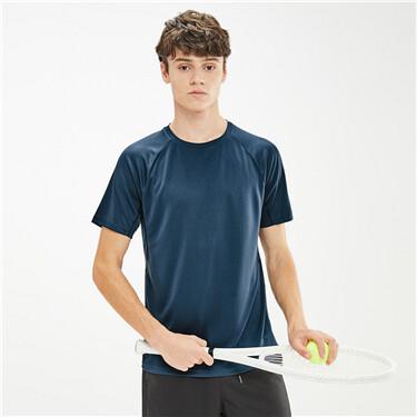 男裝黑科技抗菌竹炭纖維圓領T恤