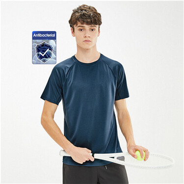 High-tech antibacterial bamboo rayon tee