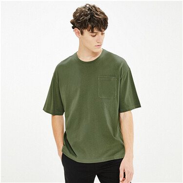Loose dropped-shoulder crewneck tee