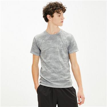 黑科技COOLMAX酷爽渐变圆领短袖T恤