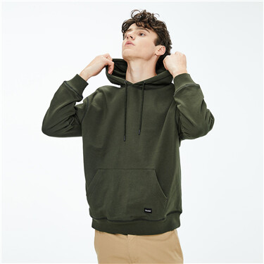Contrast cover stich loose hoodie