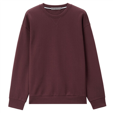 Solid interlock crewneck sweatshirt