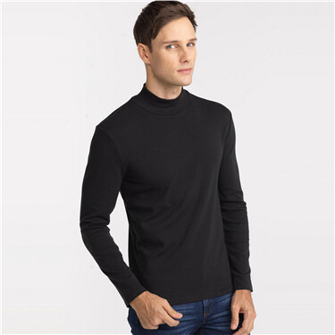 Plain lycra turtle neck tee