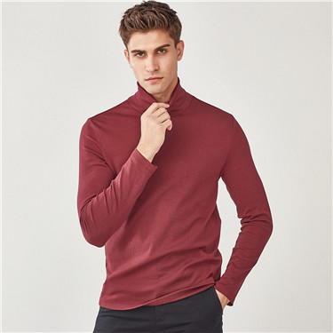 Thick stretchy turtleneck tee