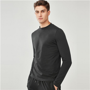 Mockneck french terry tee
