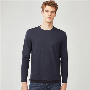 Two-in-one slim crewneck tee