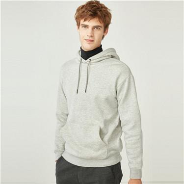 Fleeced-lining kanga pocket hoodie