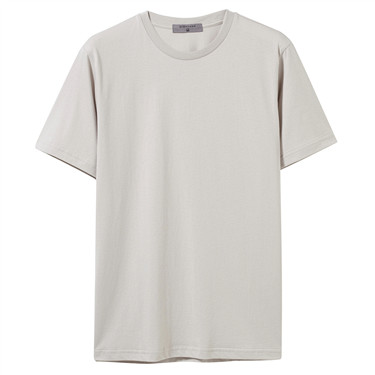 Solid slim cotton tee
