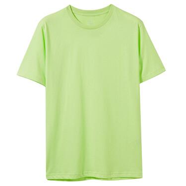 純色純棉修身圓領短袖T恤