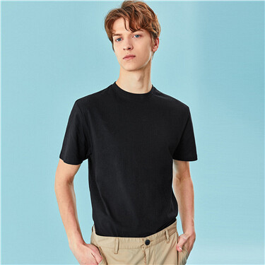 Solid cotton slim tee