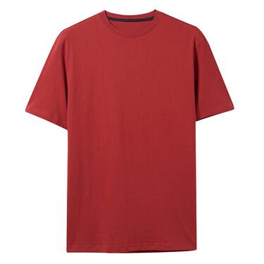 貼領純棉純色修身短袖T恤