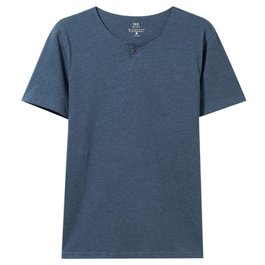 Henry neck short-sleeve slim tee