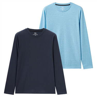 2-pack long-sleeve crewneck tee