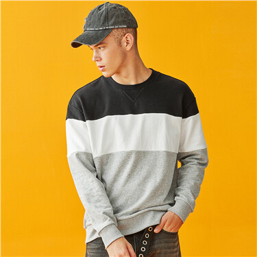 Contrast loose fit sweatshirt