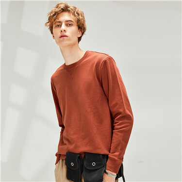 Solid slim crewneck sweatshirt